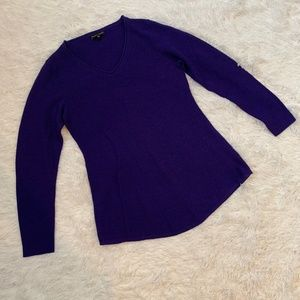 Eileen Fisher Purple XS Merino Wool Sweater